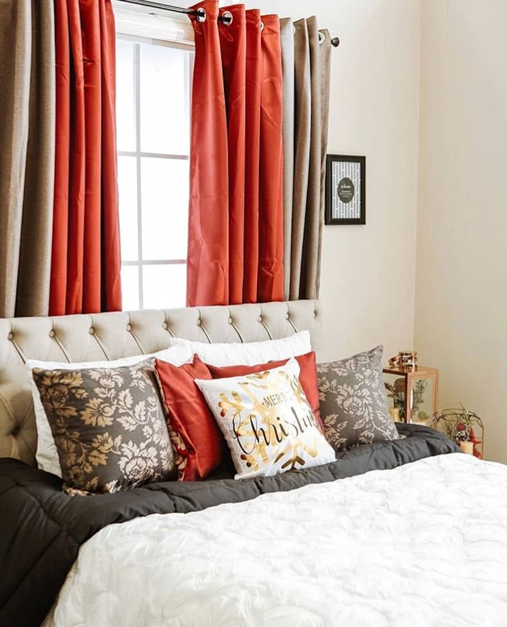 Interior Styling for AllHome Christmas Catalog 2018:  Small bedroom by Interiors by Corinne Bolisay