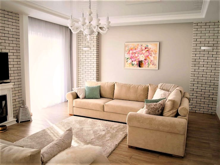 Eclectic style living room by студия Александра Пономарева Eclectic