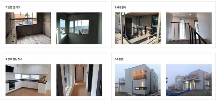 [현장라이브] 경기도 양평군 전원주택 시공현장: 한글주택(주)의  주택,