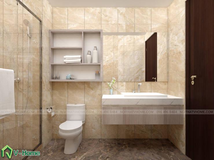Thiết kế nhà vệ sinh:  Bathroom by Công ty CP tư vấn thiết kế và xây dựng V-Home