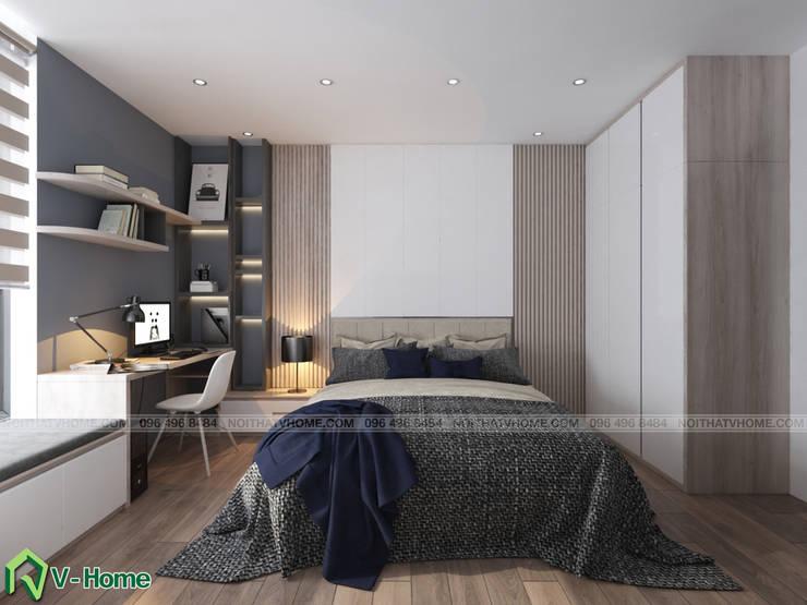 Nội thất phòng ngủ:  Bedroom by Công ty CP tư vấn thiết kế và xây dựng V-Home