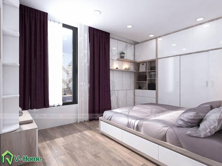 Phòng ngủ:  Bedroom by Công ty CP tư vấn thiết kế và xây dựng V-Home