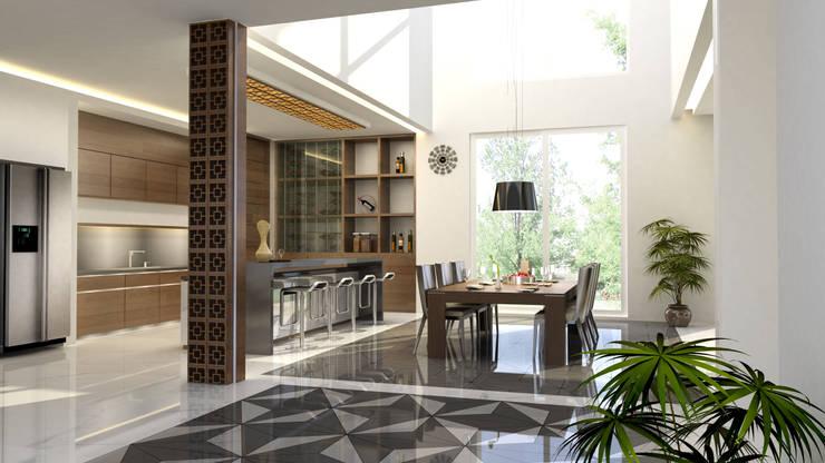 Mr.A House Jambi:  Dining room by CV Berkat Estetika