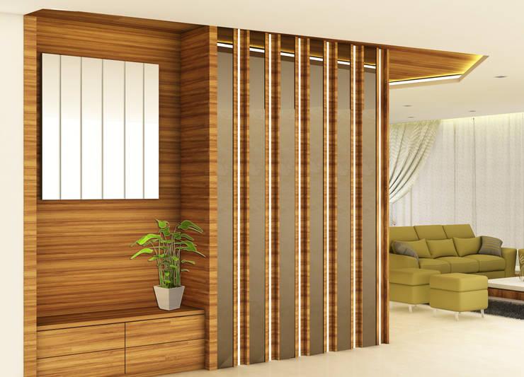 Pasillos, halls y escaleras minimalistas de Midas Dezign Minimalista