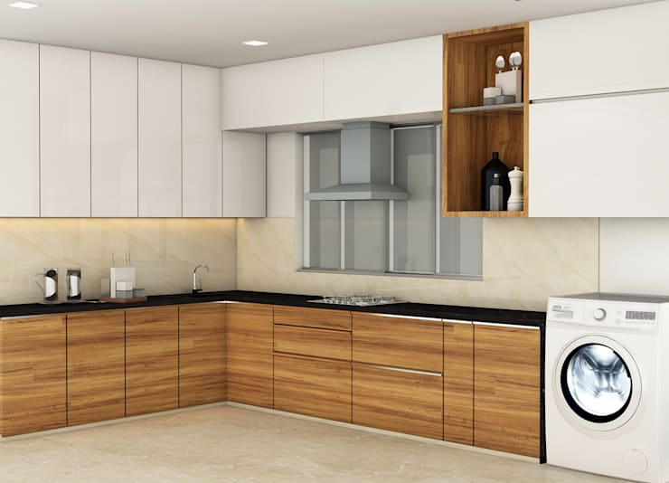 3BHK @ OBEROI ESQUIRE:  Kitchen by Midas Dezign