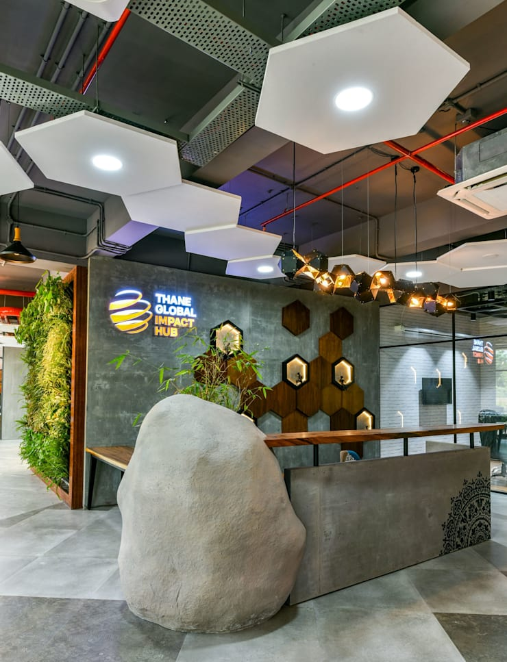 Coworking & Incubation Center - Thane Impact Global Hub:  Corridor & hallway by Dezinebox,Eclectic