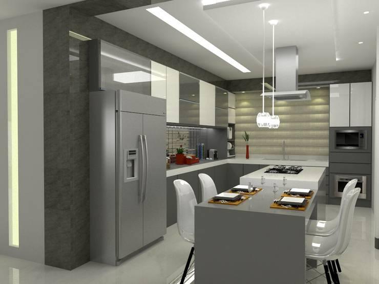Casa Costa Laguna: Cozinhas  por Multiplanos Arquitetura