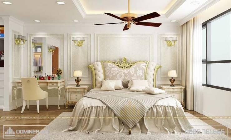 Không gian phòng ngủ Master:   by Thiết kế - Nội thất - Dominer