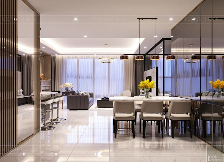 Dining room by ICON INTERIOR, Modern