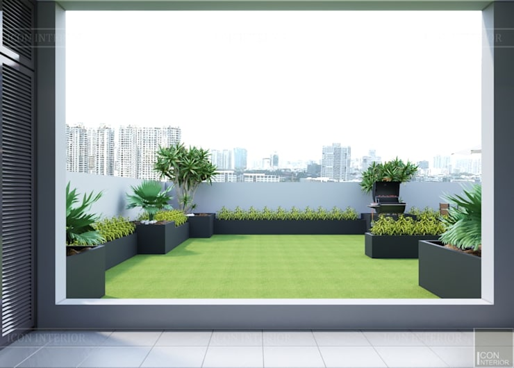 Garden by ICON INTERIOR, Modern