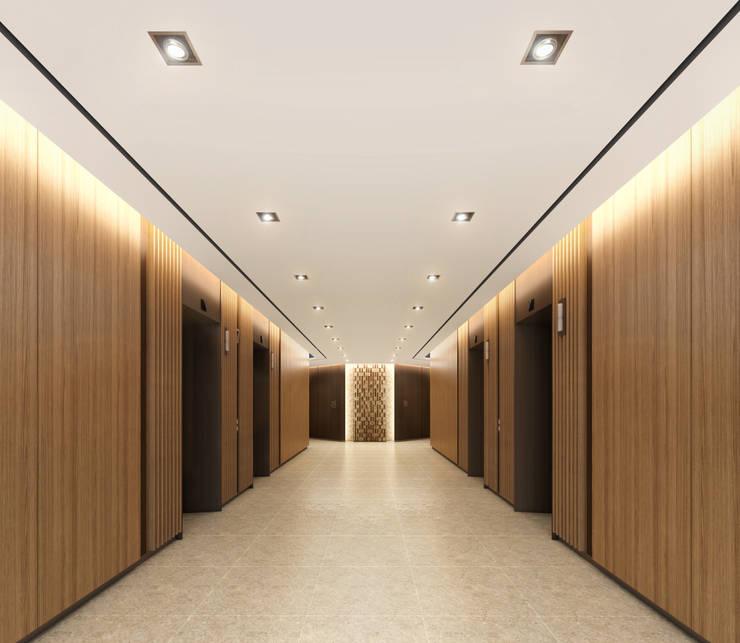 SK건설 관훈빌딩 엘리베이터 홀: Metaverse의  회사,