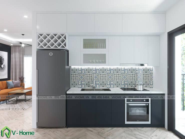 Không gian bếp:  Kitchen by Công ty CP tư vấn thiết kế và xây dựng V-Home