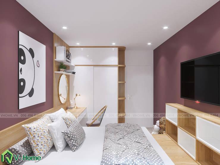Phòng ngủ cho trẻ:  Bedroom by Công ty CP tư vấn thiết kế và xây dựng V-Home