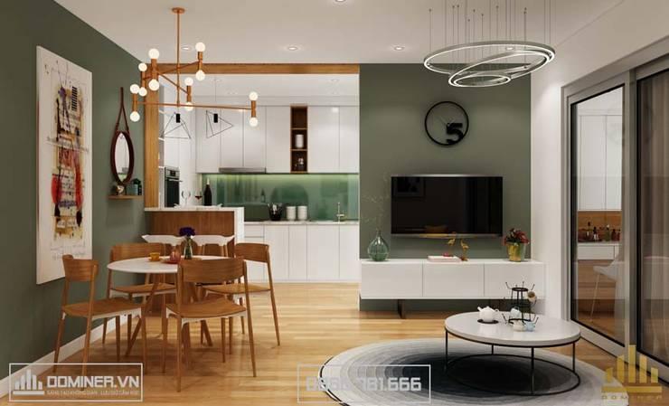 Không gian phòng khách:   by Thiết kế - Nội thất - Dominer