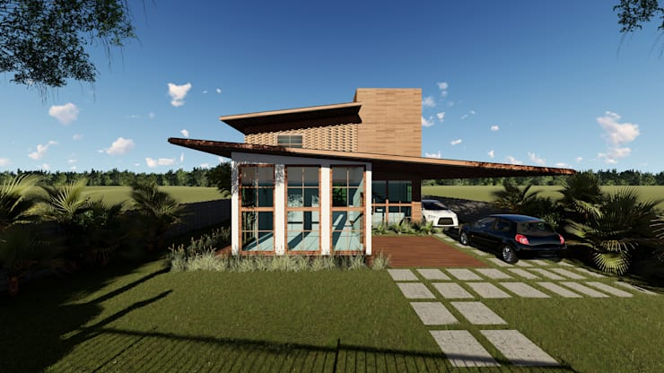 Wooden windows by Architet Studio