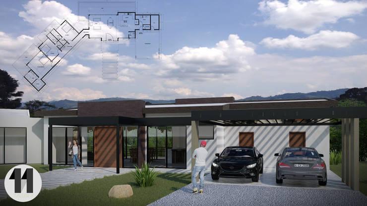 Imagen principal + planimetría : Casas de estilo  por Taller Once Arquitectura, Moderno