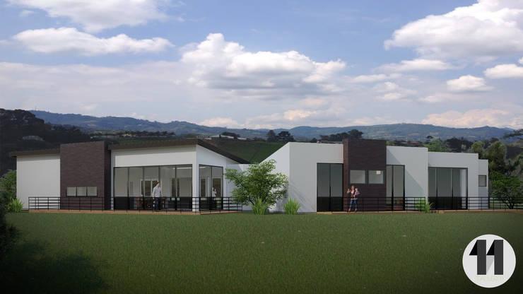 Render Exterior:  de estilo  por Taller Once Arquitectura, Moderno