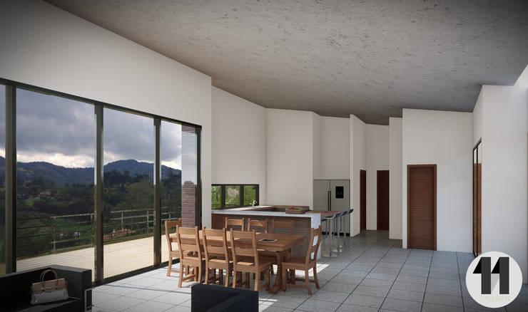 Render Interior:  de estilo  por Taller Once Arquitectura, Moderno