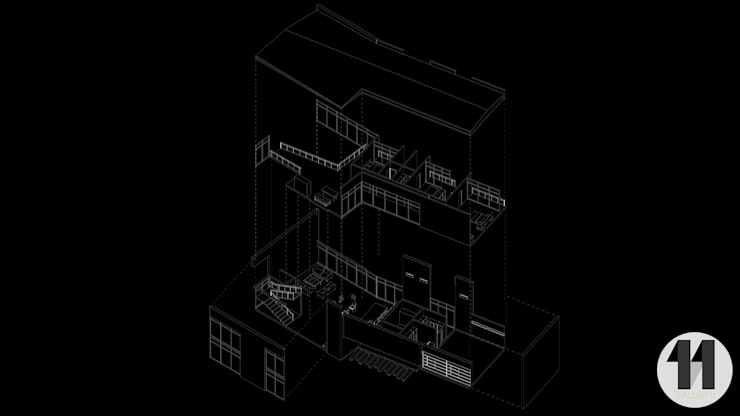 vista en Isométrico:  de estilo  por Taller Once Arquitectura