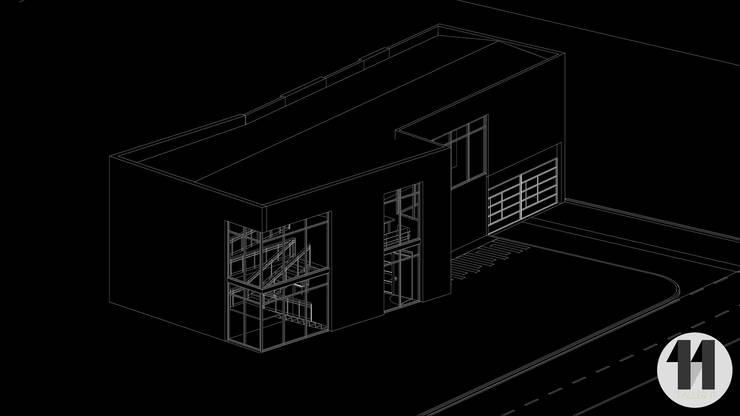 vista en Isométrico:  de estilo  por Taller Once Arquitectura, Moderno