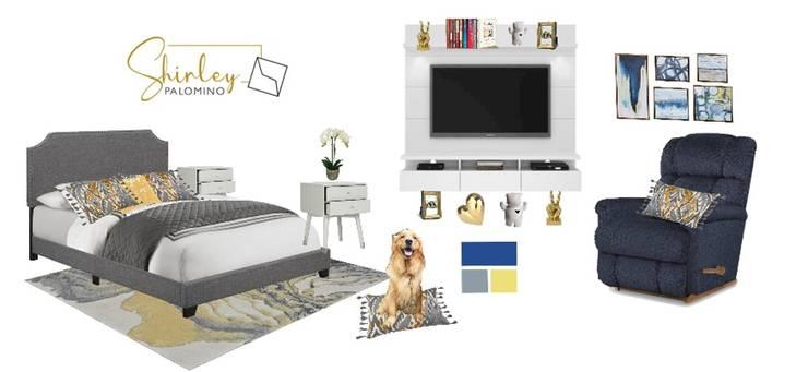 Dormitorio principal: Dormitorios de estilo  por Shirley Palomino