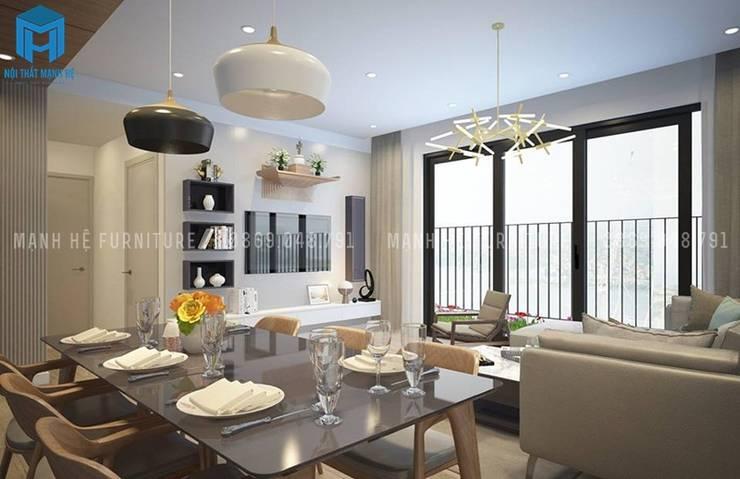 Designer:  Living room by Công ty TNHH Nội Thất Mạnh Hệ