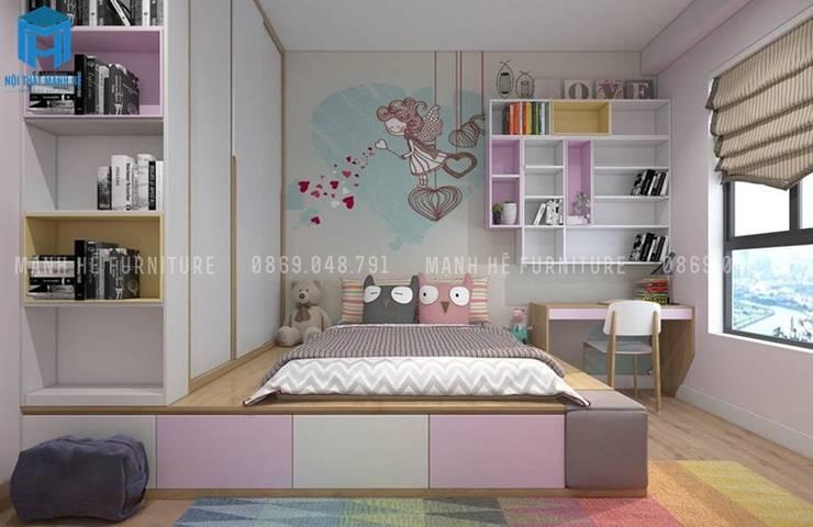 Designer:  Bedroom by Công ty TNHH Nội Thất Mạnh Hệ