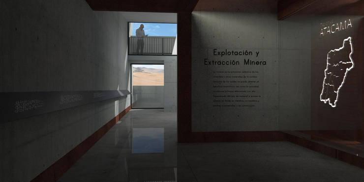 Museo mina San José: Salas multimedias de estilo  por Materia prima arquitectos