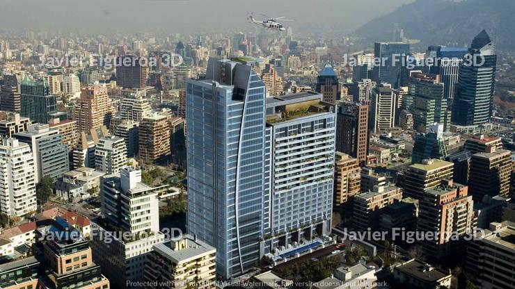 Condominios de estilo  por Javier Figueroa 3D, Moderno