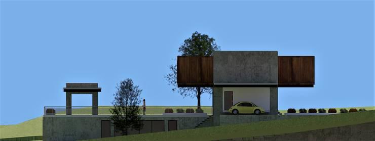 LA CASA DENIS: UN CUENTO HECHO ARQUITECTURA de JHONATAN NAVARRO ARQUITECTO Moderno Concreto reforzado