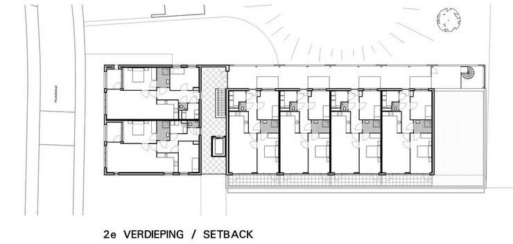 Appartementen Eisenhoeve, Maastricht:  Huizen door Verheij Architecten BNA, Modern