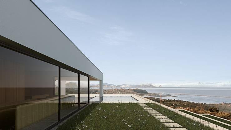 Tерраса в . Автор – ALESSIO LO BELLO ARCHITETTO a Palermo, Средиземноморский