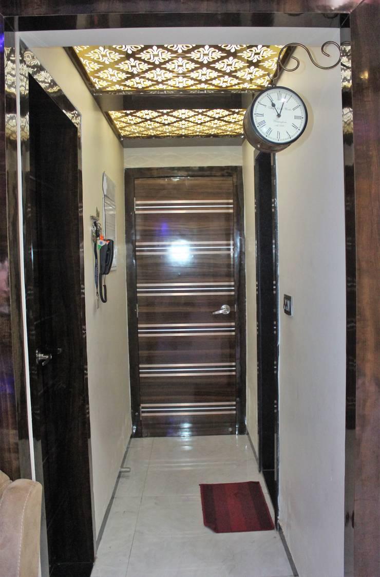 2.5 BHK Casa Rio,Palava, Dombivali. Modern corridor, hallway & stairs by VR Interior Designerss Modern