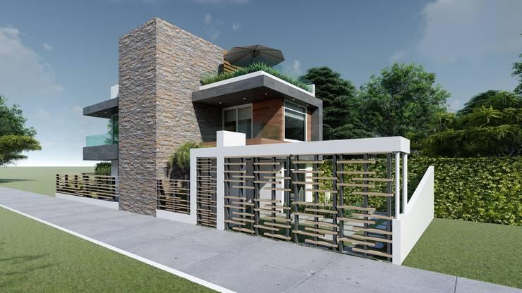 JG: Casas pequeñas de estilo  por DISARQ ARQUITECTOS.