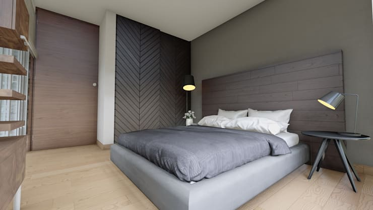 Bedroom by DISARQ ARQUITECTOS.
