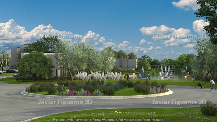 Casas de estilo  por Javier Figueroa 3D, Mediterráneo