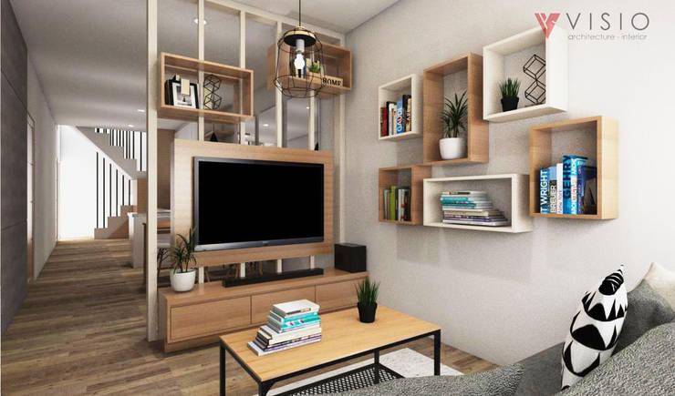 Tomang Residence:  Ruang Keluarga by PT VISIO GEMILANG ABADI