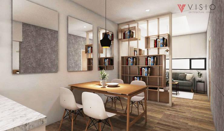 Tomang Residence:  Ruang Makan by PT VISIO GEMILANG ABADI