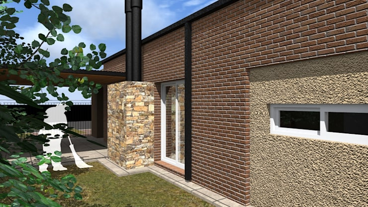 Vivienda D&A: Casas unifamiliares de estilo  por Arquitecto Emiliano Quintero,