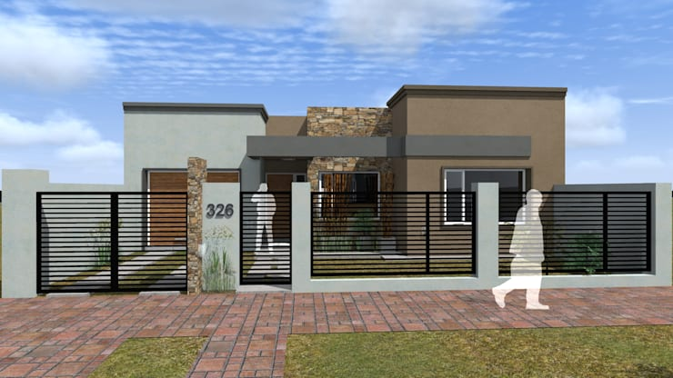 Vivienda L+S: Casas unifamiliares de estilo  por Arquitecto Emiliano Quintero,