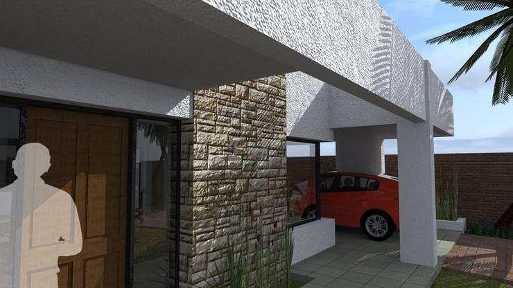 Vivienda SG: Casas unifamiliares de estilo  por Arquitecto Emiliano Quintero,