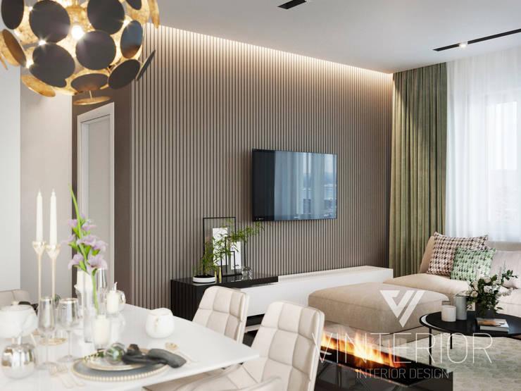 Modern Apartment Design Minimalistische Wohnzimmer von Vinterior - дизайн интерьера Minimalistisch