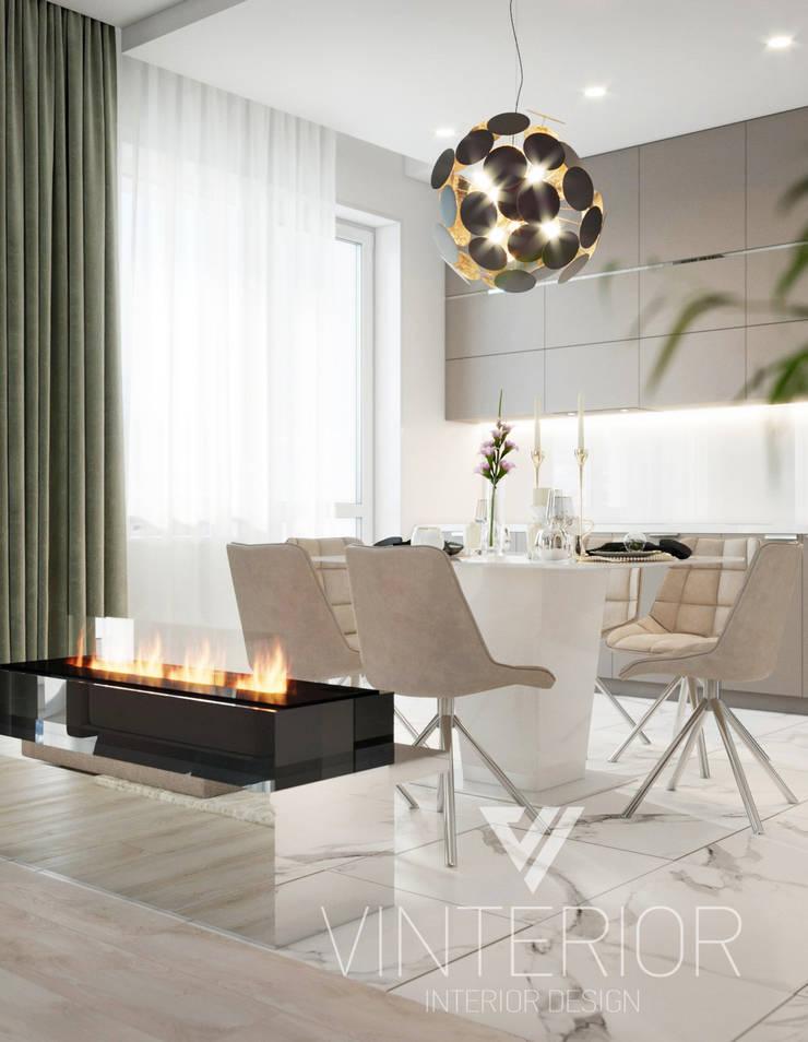 Modern Apartment Design Minimalistische Küchen von Vinterior - дизайн интерьера Minimalistisch