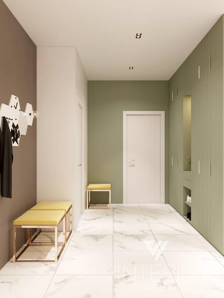 Modern Apartment Design Minimalistischer Flur, Diele & Treppenhaus von Vinterior - дизайн интерьера Minimalistisch