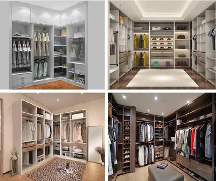 Closets:  de estilo  por Shirley Palomino, Moderno Aglomerado