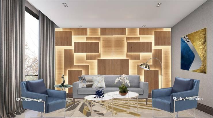 Enchape :  de estilo  por Shirley Palomino, Moderno Madera Acabado en madera