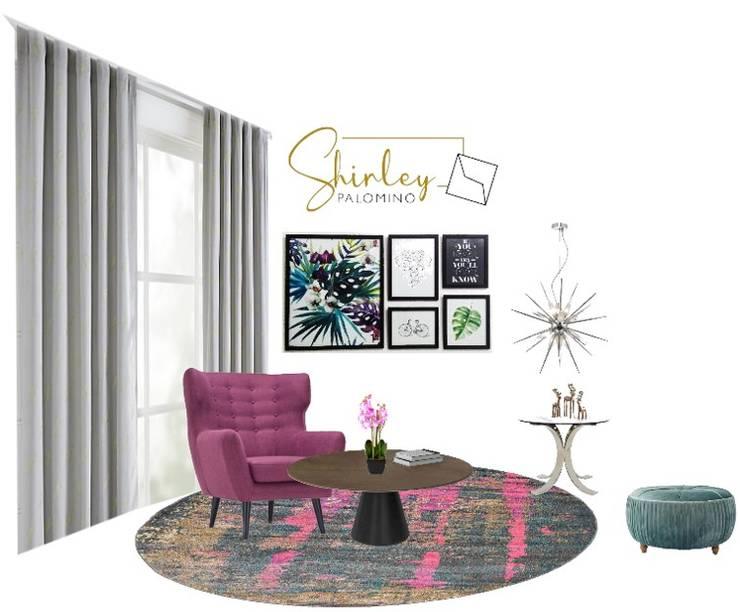 Decoración de interiores: Salas / recibidores de estilo  por Shirley Palomino, Moderno