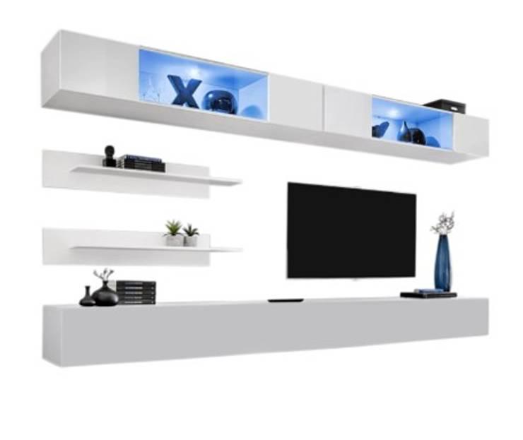 Centro de TV:  de estilo  por Shirley Palomino, Moderno Derivados de madera Transparente