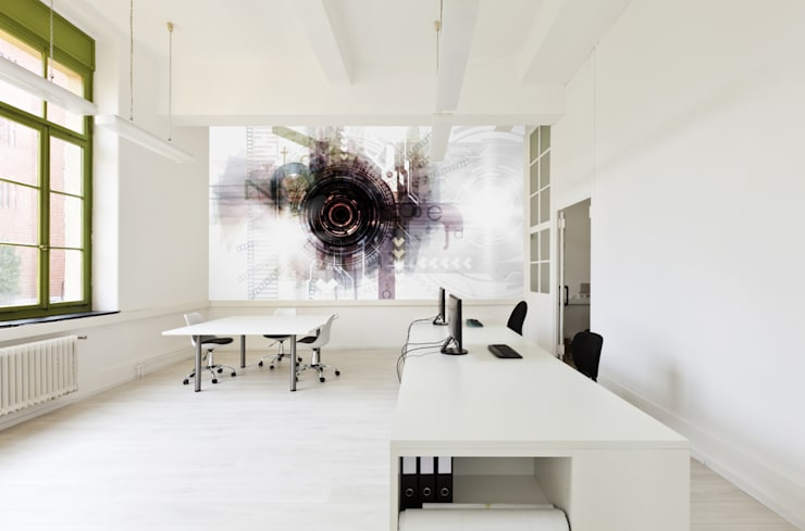 Moderne Wände & Böden von Kromart Wallcoverings - Papel Tapiz Personalizado Modern