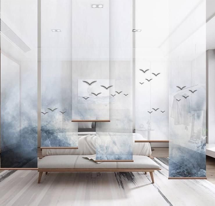 Roller con impresión personalizada: Puertas y ventanas de estilo  por Shirley Palomino